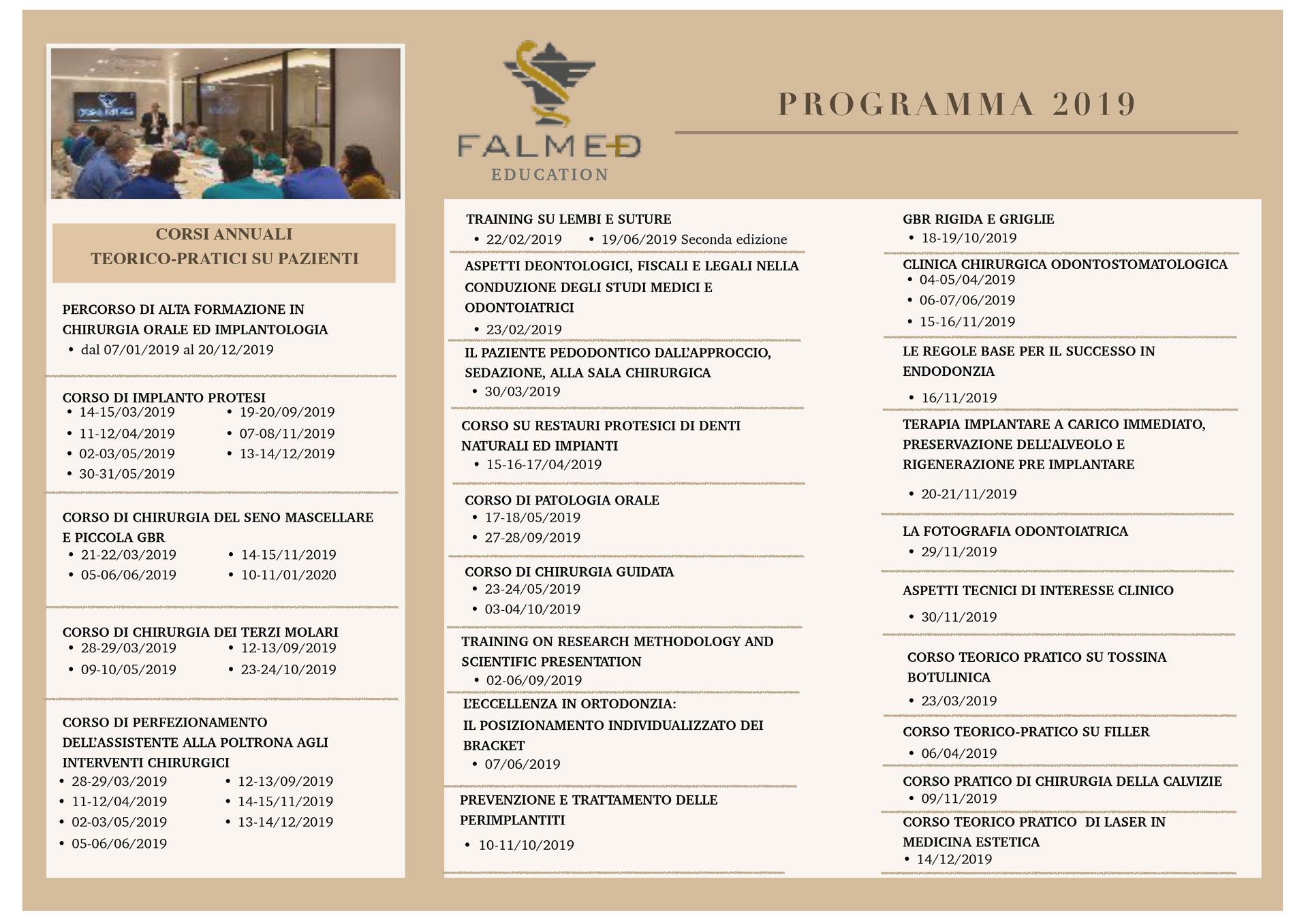 Elenco corsi FALMED 2019